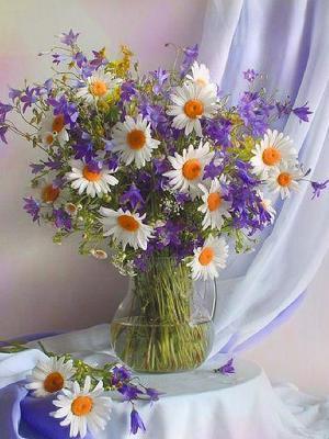 Набор для вышивания лентами Сиреневое утро Матренин Посад. Цвет: бежевый, белый, фиолетовый