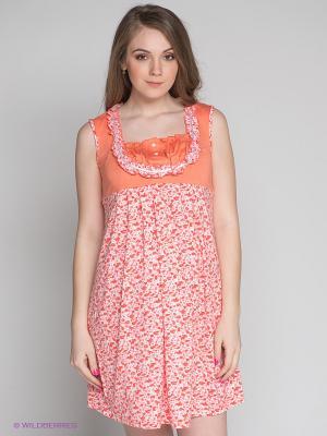 Сорочка Русмар. Цвет: белый, оранжевый