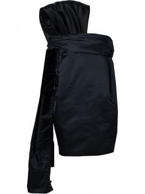 Платье с абстрактной вставкой Monse. Цвет: чёрный
