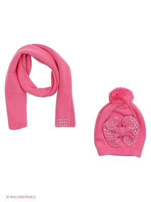 Комплект (шапка,шарф) R&I. Цвет: розовый