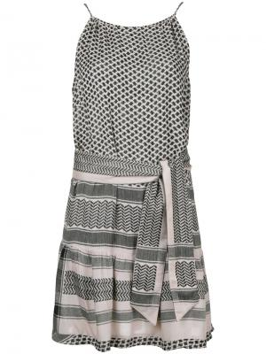 Платье на тонких бретелях Cecilie Copenhagen. Цвет: розовый и фиолетовый