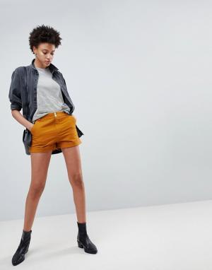 ASOS Парусиновые шорты-карго табачного цвета. Цвет: коричневый