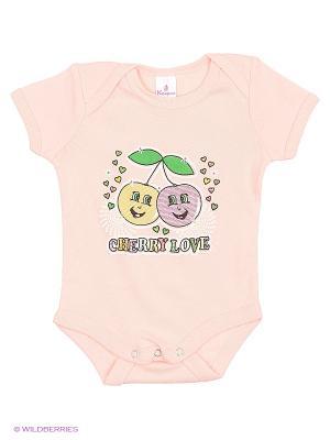 Пижама ясельная MP0101 02 цвет персиковый, вишенка Квирит. Цвет: персиковый