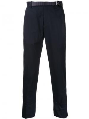 Укороченные брюки Wooyoungmi. Цвет: синий