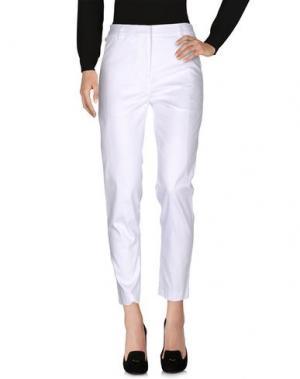 Повседневные брюки GAETANO NAVARRA. Цвет: белый