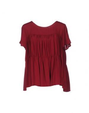 Блузка TROU AUX BICHES. Цвет: красно-коричневый