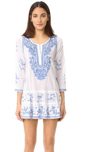 Пляжное платье Juliet Dunn. Цвет: белый/темно-синий