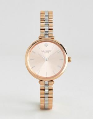 Kate Spade Металлические часы цвета розового золота New York Holland. Цвет: золотой