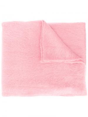 Одноцветный шарф Dondup. Цвет: розовый и фиолетовый