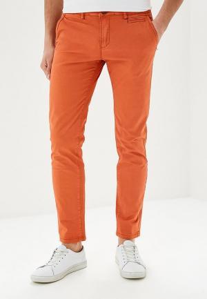 Чиносы Justboy. Цвет: оранжевый