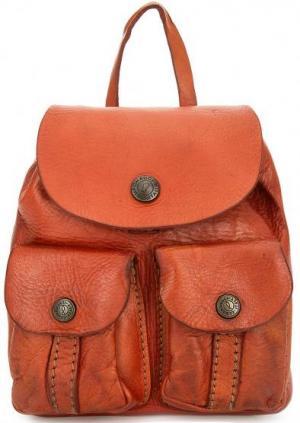 Маленькая сумка с откидным клапаном Campomaggi. Цвет: оранжевый