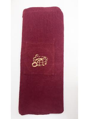 Юбка для сауны A and C Collection. Цвет: бордовый
