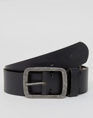 Dickies Черный кожаный ремень Eagle Lake. Цвет: черный