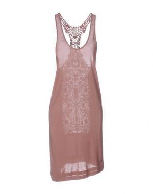 Короткое платье RA-RE. Цвет: светло-коричневый