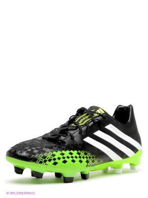 Бутсы Adidas. Цвет: черный, зеленый