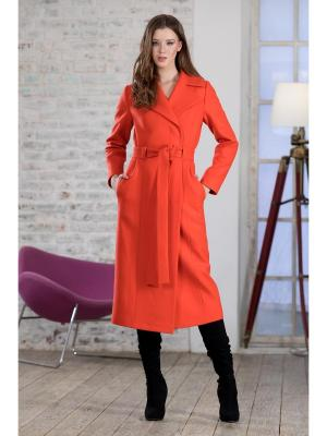 Пальто RUXARA. Цвет: коралловый