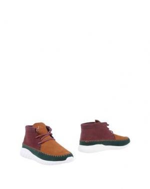 Полусапоги и высокие ботинки ASFVLT. Цвет: баклажанный