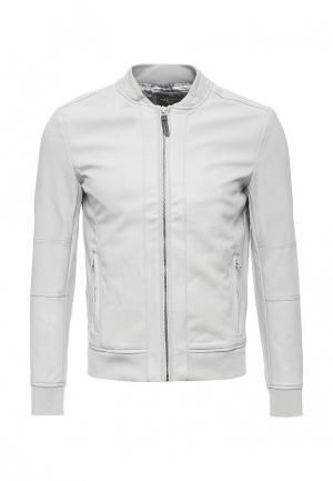 Куртка кожаная Alcott. Цвет: серый