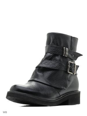 Ботинки ESTELLA. Цвет: черный, серо-коричневый