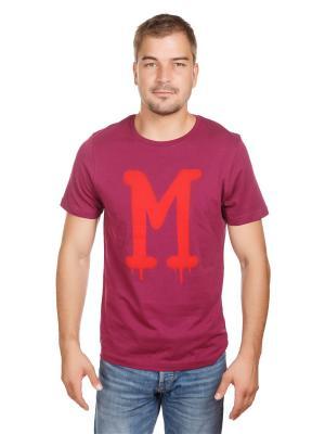 Футболка логотип McNeal. Цвет: бордовый, красный