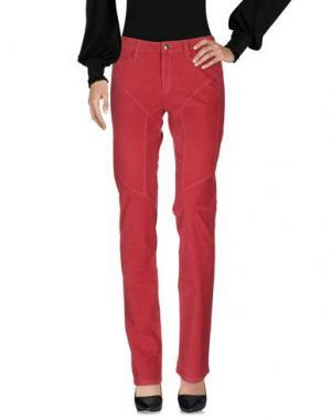 Повседневные брюки 9.2 BY CARLO CHIONNA. Цвет: красно-коричневый