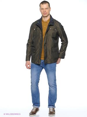 Куртка удлиненная Grishko. Цвет: хаки