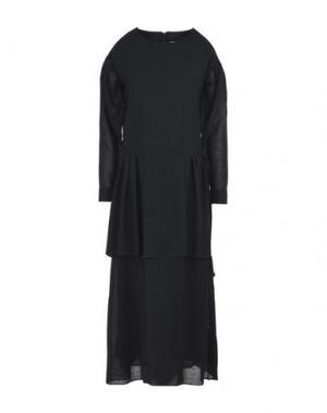 Длинное платье MANOSTORTI. Цвет: черный