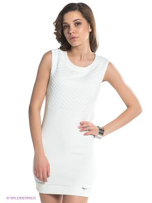 Платье BSB. Цвет: молочный