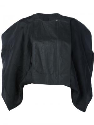 Укороченная байкерская куртка Rick Owens. Цвет: чёрный