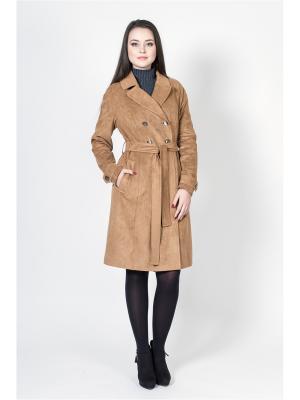 Пальто Socrat. Цвет: светло-коричневый