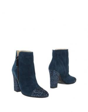 Полусапоги и высокие ботинки PREZIOSO. Цвет: синий