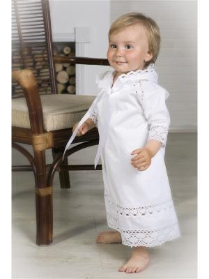 Крестильная рубашка Alivia Kids. Цвет: белый