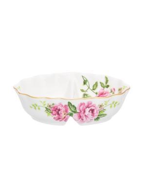 Солонка/перечница Плетистая роза Elan Gallery. Цвет: белый, зеленый, розовый