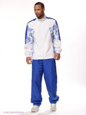 Костюм спортивный Runika. Цвет: синий, белый