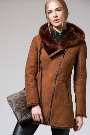 Пальто VESPUCCI BY VSP. Цвет: коричневый