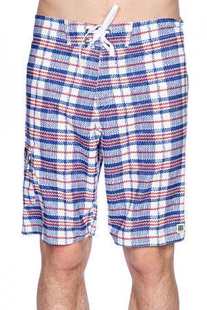 Пляжные мужские шорты  Kingsbury 21 Boardshort Blue Globe. Цвет: синий,белый