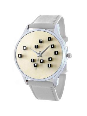 Дизайнерские часы Кубы времени Tina Bolotina. Цвет: черный, белый, темно-бежевый