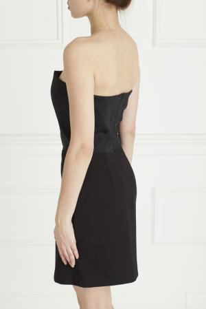 Платье из вискозы Maje. Цвет: черный