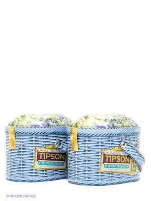 Чайный набор Типсон Лукошко Весеннее 100 г *2 Tipson. Цвет: голубой, зеленый
