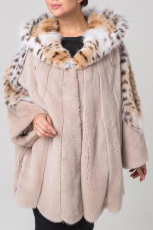 Шуба PT Quality Furs. Цвет: бежевый