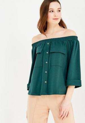 Блуза Ruxara. Цвет: зеленый