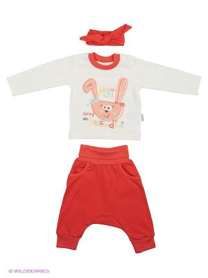 Костюм для малышей WO&GO. Цвет: белый, коралловый