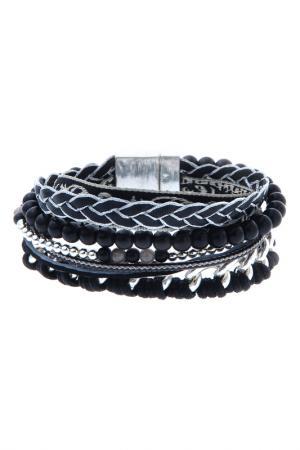 Браслет OXXO design. Цвет: черный, серебряный