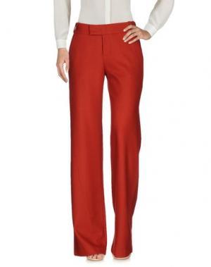 Повседневные брюки BDBA. Цвет: красный