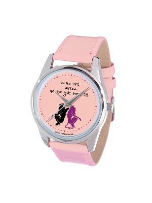 Часы Mitya Veselkov. Цвет: розовый, черный, фиолетовый