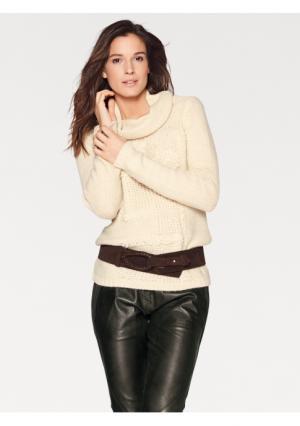 Пуловер PATRIZIA DINI. Цвет: оливковый
