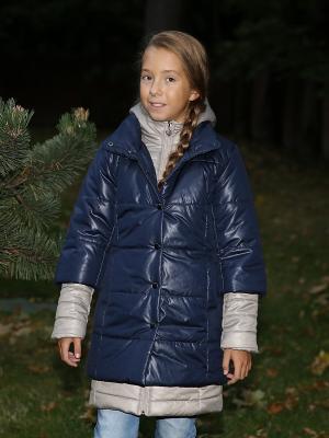 Пальто двойные MARIELA. Цвет: темно-синий