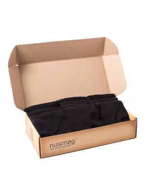 Набор черных носков Спорт с сургучной печатью, 10 пар NosMag. Цвет: черный