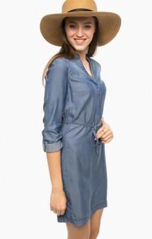 Синее платье с разрезами по бокам MORE &. Цвет: синий