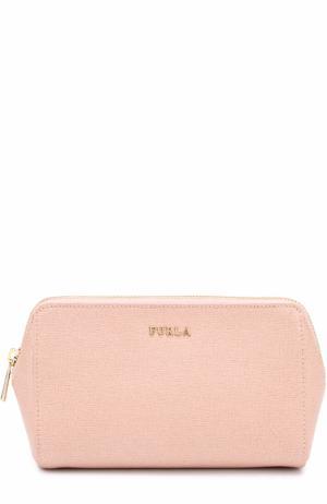 Кожаная косметичка Furla. Цвет: светло-розовый